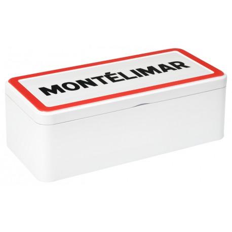 Boîte métal Montélimar de dominos de nougat