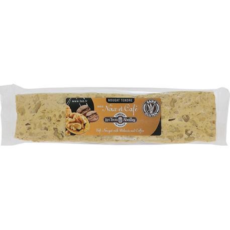 Barre de nougat tendre aux noix/café - 100 g