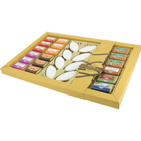 Valaurie - assortiment 16 bouchées + 8 dominos + 8 calissons -400g