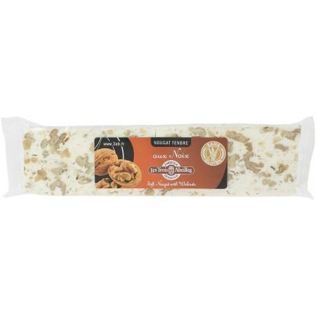 Barre de nougat tendre aux noix