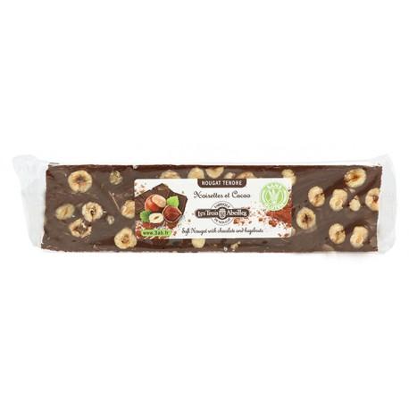 Nougat tendre aux Noisettes et au Cacao - barre 100g