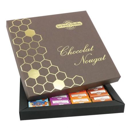 Assortiment chocolats et nougat de Montélimar - Nid d'abeilles - 680g